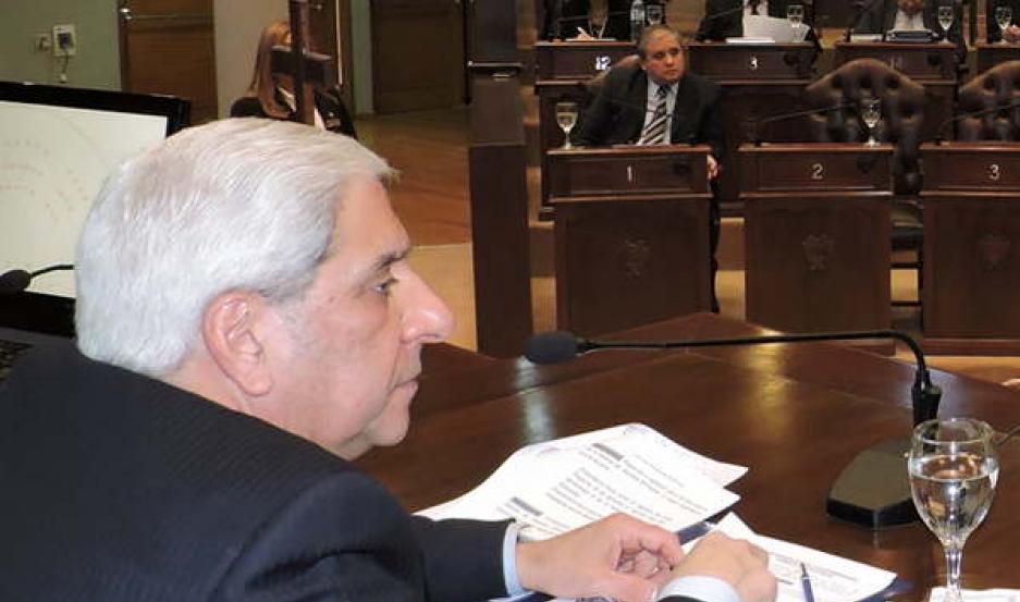 NEDER. El vicegobernador presidió la sesión ordinaria.