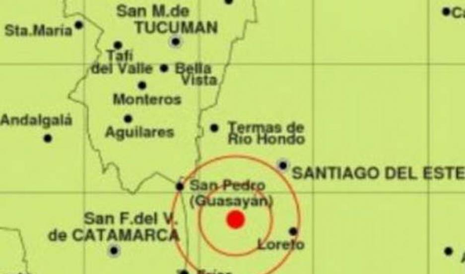 SUCESO. El primer movimiento fuerte en la tierra se registró a las 4.01, siendo el epicentro a 51 km al suroeste de Santiago del Estero.