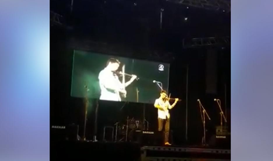 Mauro, en el escenario.