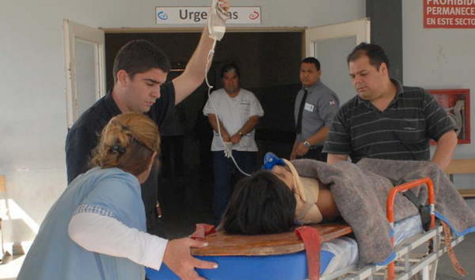 INTERNACIÓN Las víctimas son asistidas por los médicos. Padecerían cuadros venéreos del que ya son tratados con antibióticos.
