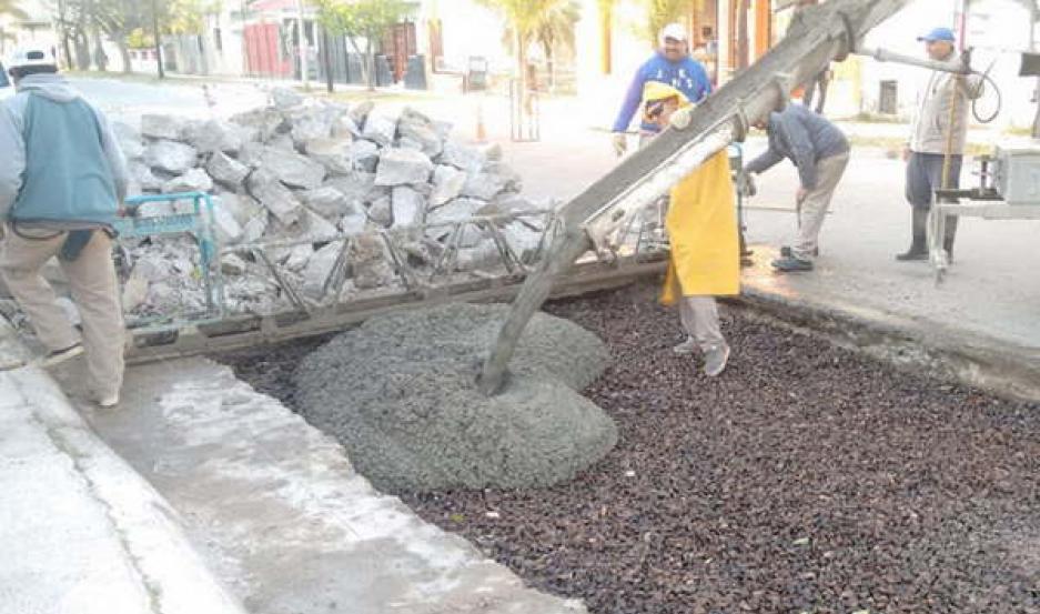 PLAN. El municipio termense trabaja en forma permanente para mejorar la transitabilidad de las calles de la ciudad.