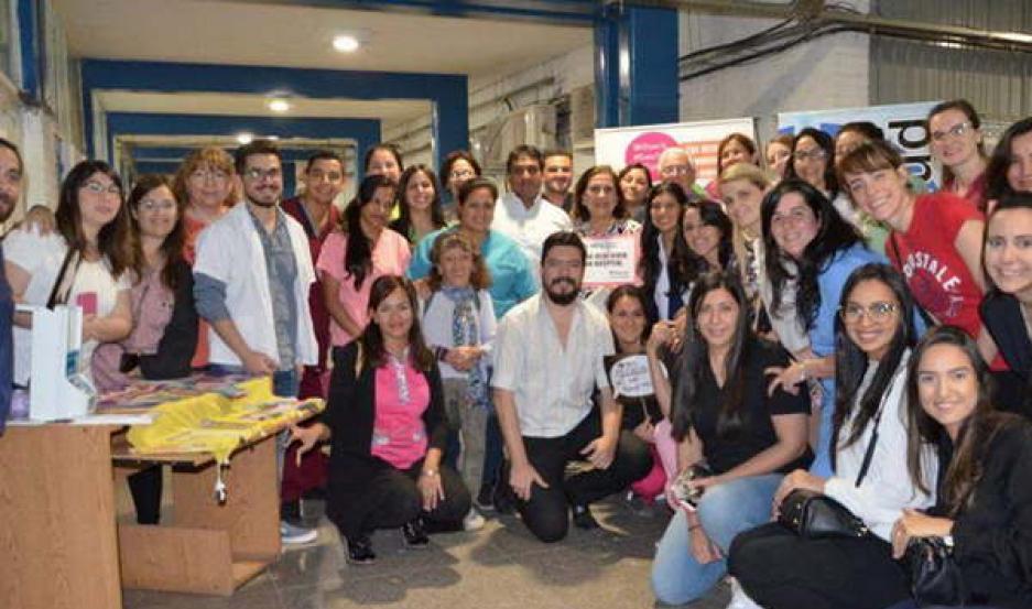 TRABAJO. Personal del área de Salud realizó una jornada de sensibilización y de recreación con pacientes.