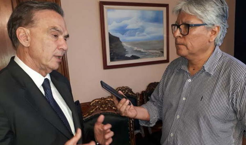 POSTURA. El senador nacional resaltó que el 70% del presupuesto del país destinado en seguridad social,