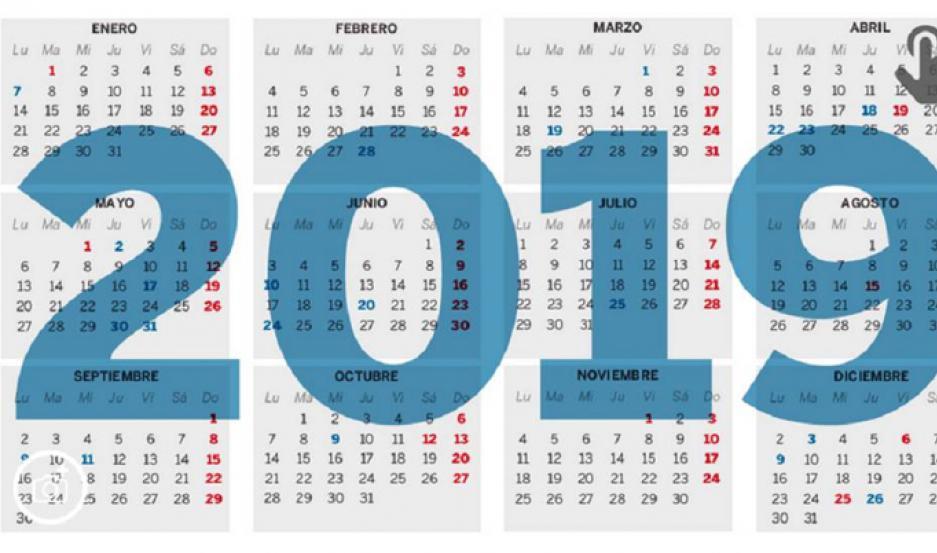 Calendario Agosto 2019 Con Feriados.Calendario 2019 Habra 19 Feriados Y Tres Puentes El Liberal