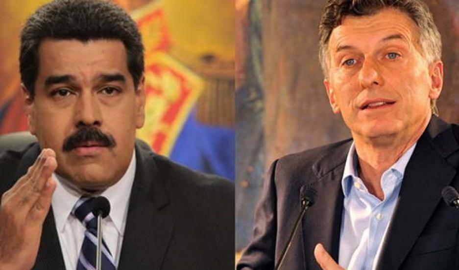 ENFRENTADOS. Macri señaló desde el principio de su gestión a Maduro.