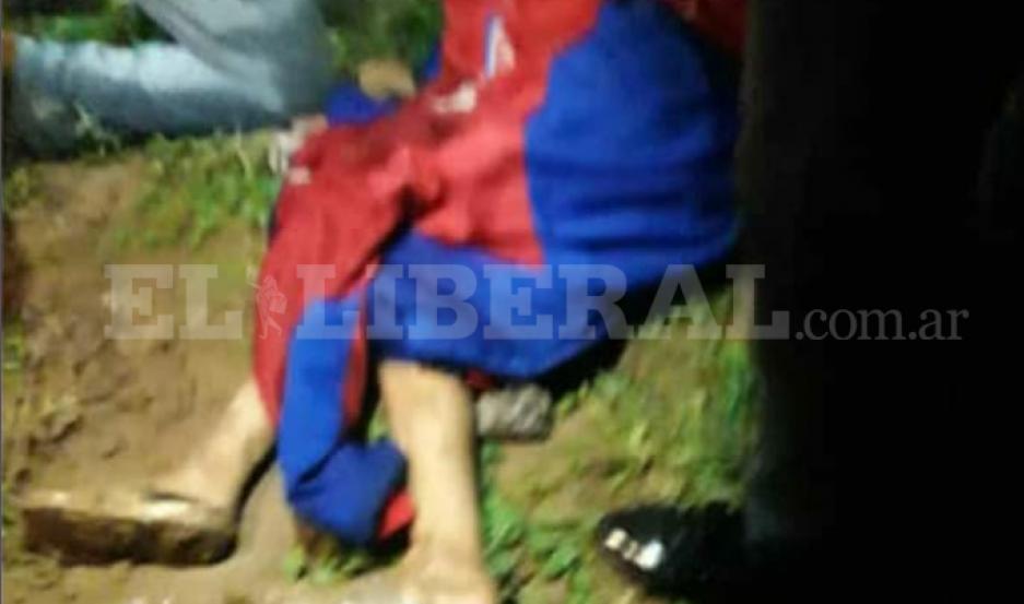 Así encontraron al nene en Quimilí.