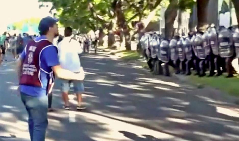 Incidentes durante una marcha a favor de Nicolás Maduro