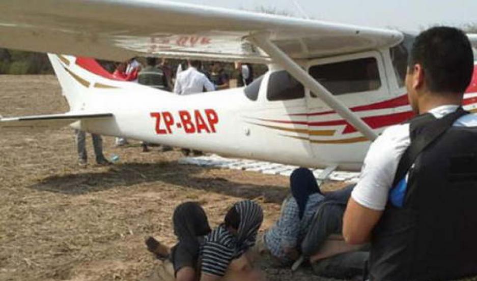 PROCEDIMIENTO. La avioneta fue interceptada en el norte cordobés el 11 de septiembre del 2013.
