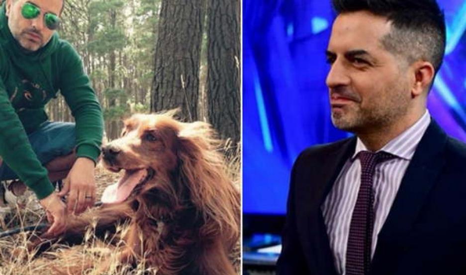 CONMOVEDOR. El periodista publicó una foto de su perro, que murió hace dos años.