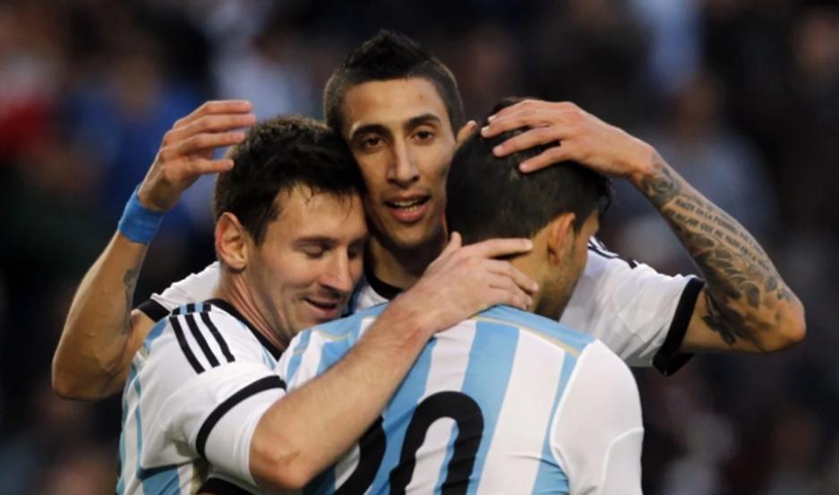 Messi, Agüero y Di María, los tres históricos convocados.