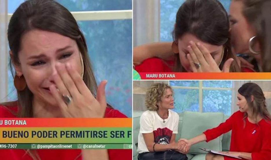Pampita no pudo contener las lágrimas.