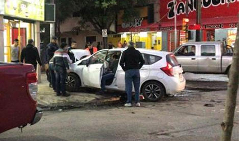 Violento accidente en pleno centro de Santiago