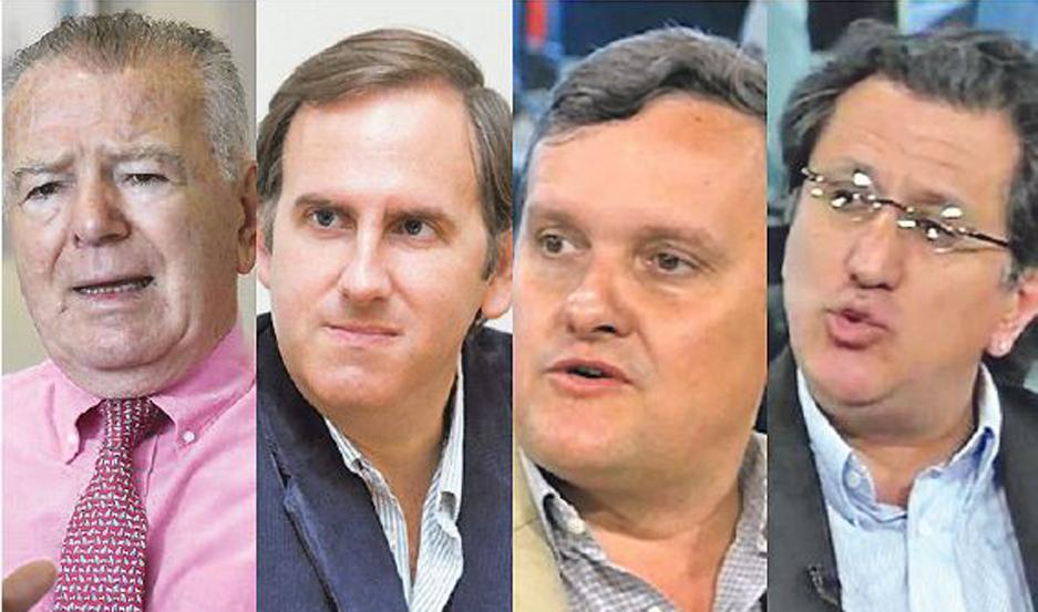 Orlando Ferreres, Camilo Tiscornia, Aldo Abram y Jorge Colina.