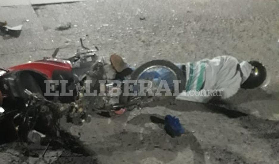 El motociclista herido fue trasladado al hospital Regional.