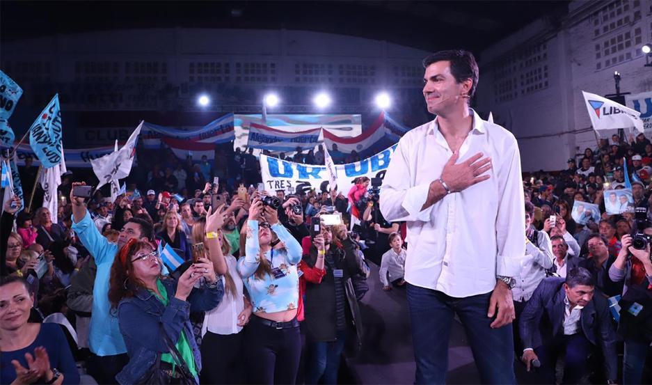 Juan Manuel Urtubey durante un acto en La Matanza.