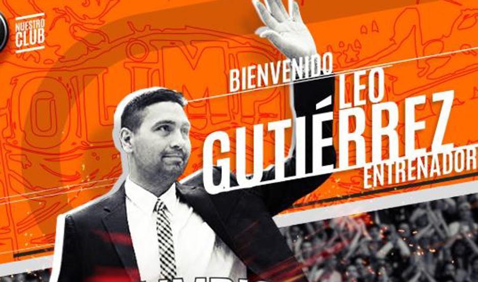 Leo Gutiérrez se convirtió en el nuevo entrenador de Olímpico
