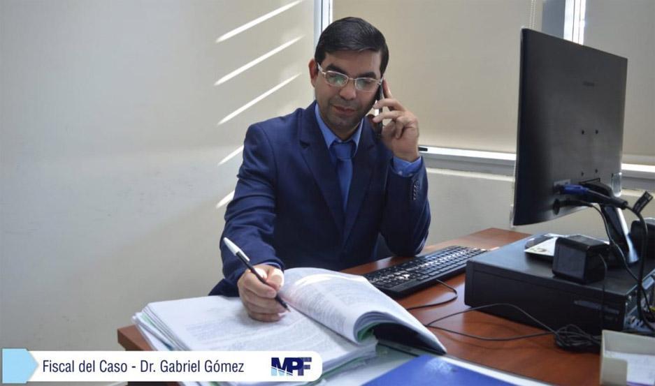 Fiscal Dr. Gabriel Gómez.