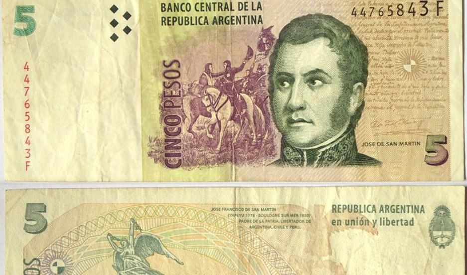 Los billetes de cinco pesos se hallaban en vigencia desde 1998.