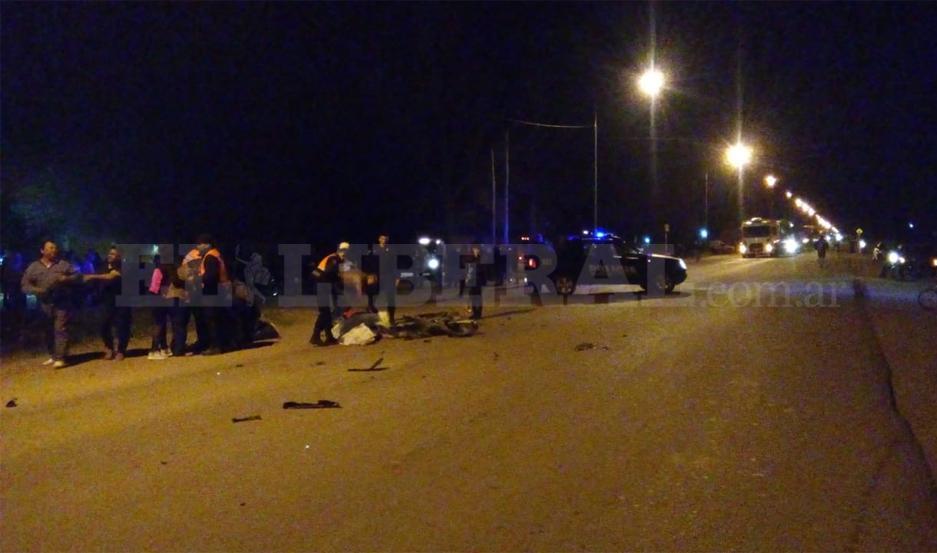 El accidente se registró pasadas las 19 de este viernes.