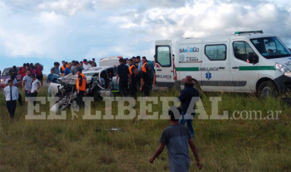 El accidente provocó heridas a tres jóvenes a la altura de la localidad de Yanda.