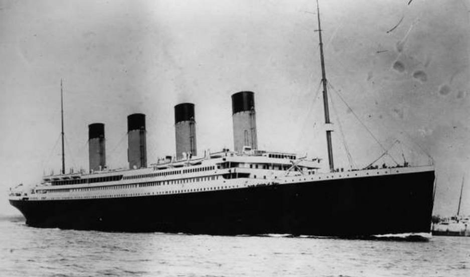 Imagen del Titanic 1912.
