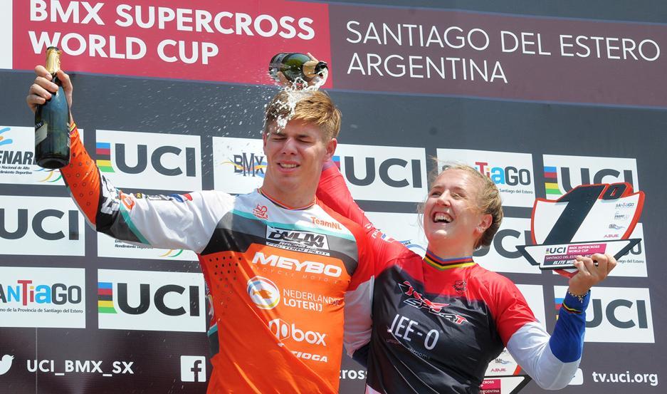Niek Kimmann y Laura Smulders cerraron el año en Santiago de la mejor manera: con podios.
