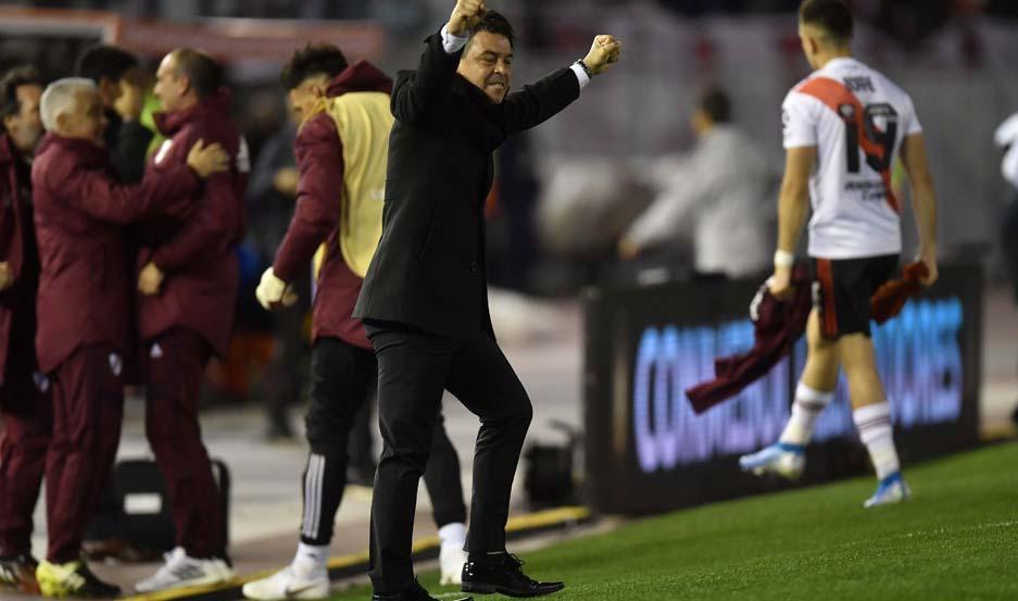 CONFORME. El entrenador de River Plate, Marcelo Gallardo, aseguró que sus dirigidos asumieron riesgos y que por eso ganaron la primera semifinal.
