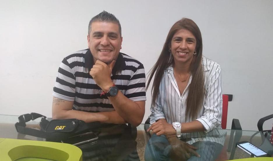 Martín y Verónica Reynoso.