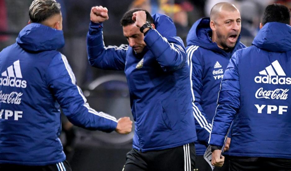 Lionel Scaloni se mostró conforme con el encuentro disputado por la Argentina ante Alemania.