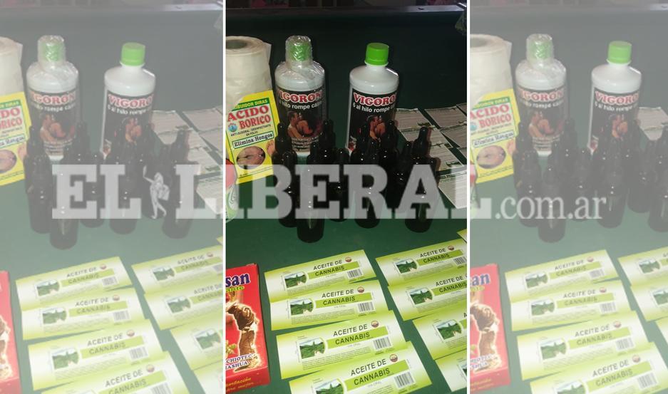 Las sustancias prohibidas fueron incautadas por el personal de la Policía Federal Argentina.