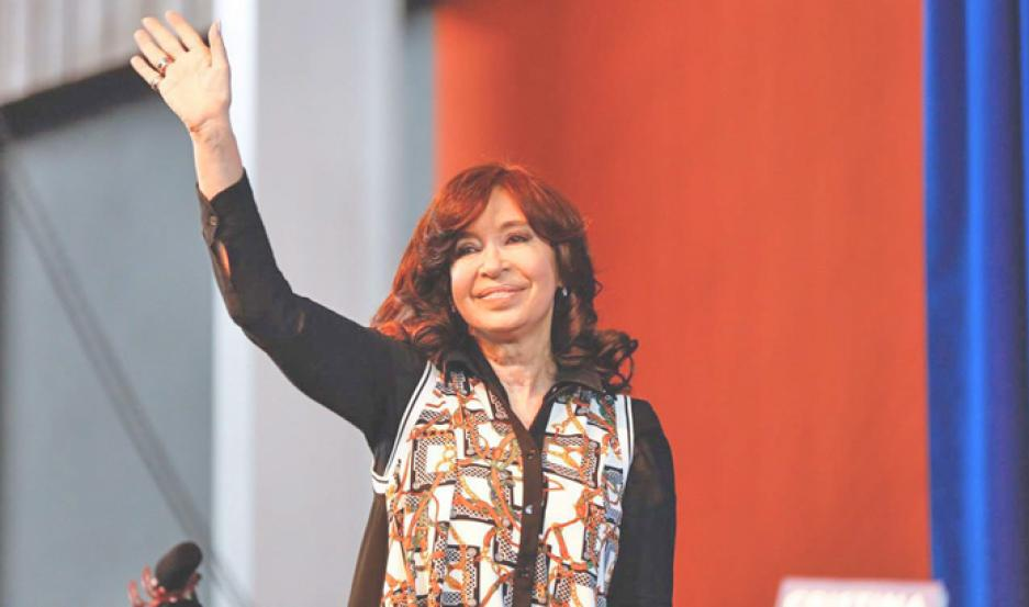 Cristina Fernández, candidata a vicepresidenta por el Frente de Todos.