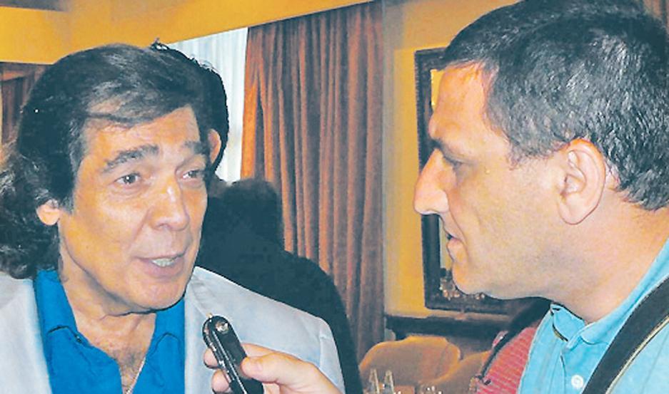 Cacho Castaña en una entrevista de EL LIBERAL (2012).
