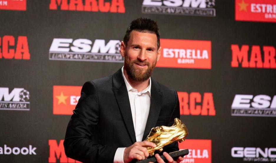 Messi con su sexto Botín de Oro.