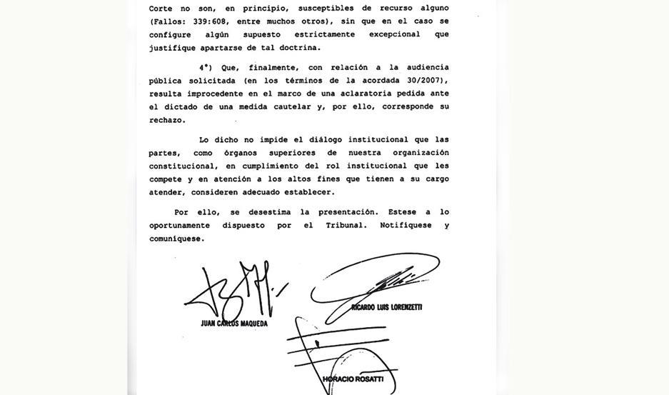 CATEGÓRICO. El fallo de la Corte es muy claro e inapelable para la Nación, indicó el fiscal Abate.