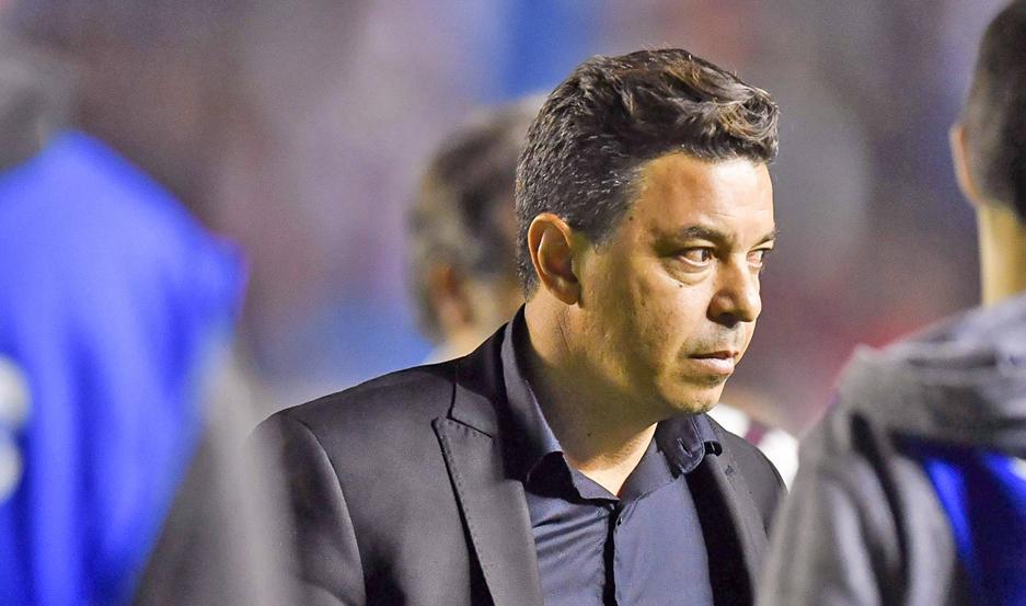 """PRESENTE. Marcelo Gallardo ya piensa en Boca y en todo lo que puede pasar el próximo martes en la """"Bopmbonera""""."""