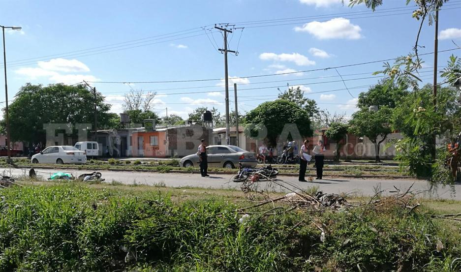 El accidente de tránsito ocurrió alrededor de las 9.30 de este domingo.