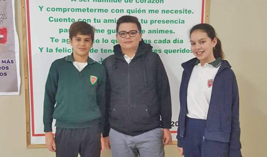 Estudiantes del Colegio Hno. Hermas, participarán de una prueba internacional