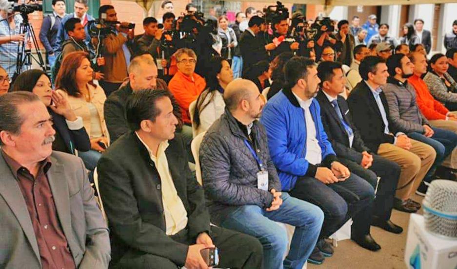 DELEGACIÓN. El jefe comunal integró una comitiva que viajó para asegurar la transparencia y evitar situaciones de conflictos y violencia.