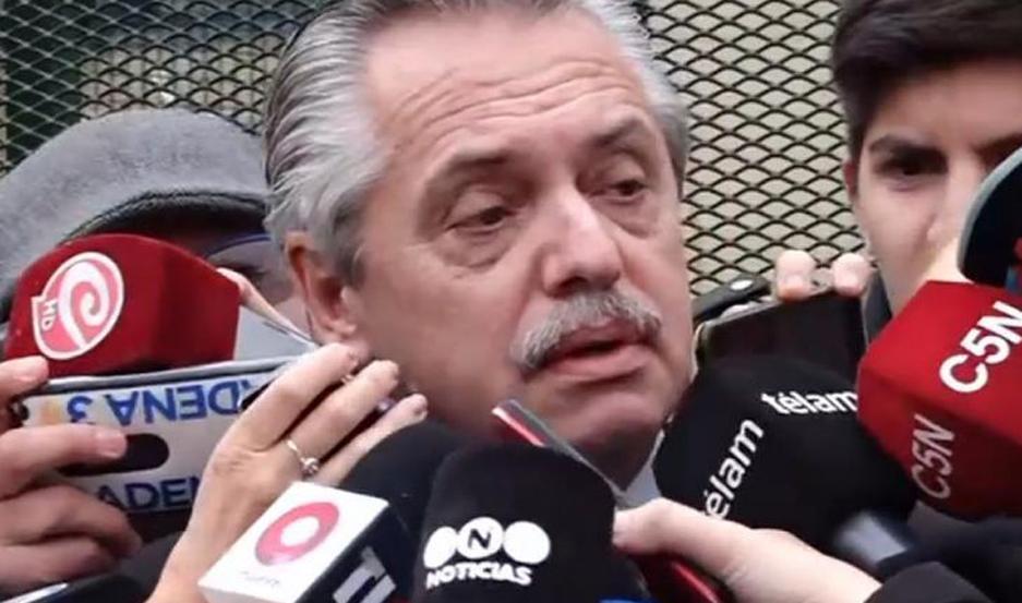Alberto chicaneó a la prensa: