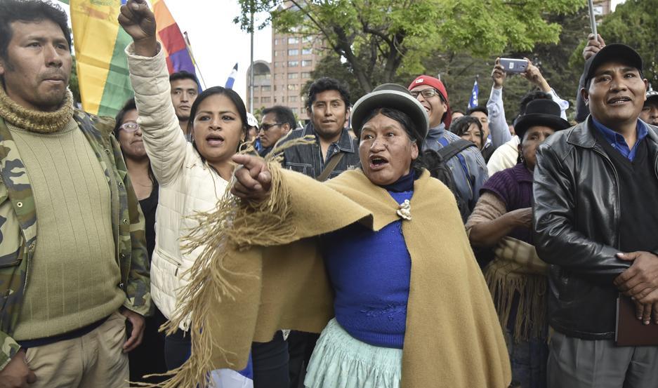 DUDAS. Un posible fraude electoral generó divisiones y protestas en Bolivia.