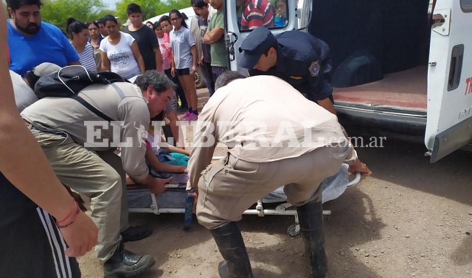 La hija de un motociclista fue otra de las damnificadas por el choque con un vehículo de una familia bonaerense.