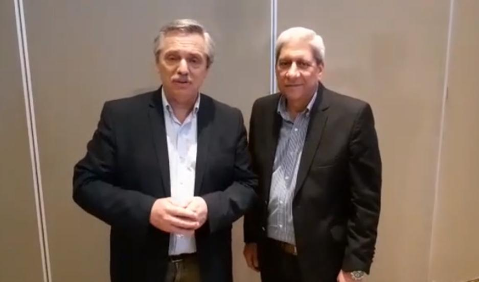 El candidato a presidente estuvo junto al vicegobernador en el cierre de campaña, en Chaco.