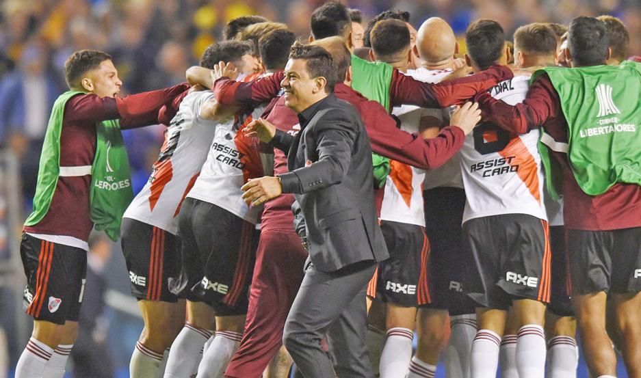 FELICIDAD. En River se viven horas felices tras la clasificación a la final de la Libertadores, eliminando a Boca.