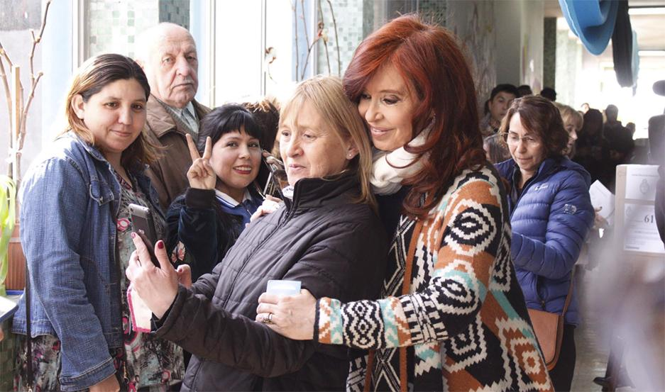 Cristina Fernández de Kirchner votó en Río Gallegos.