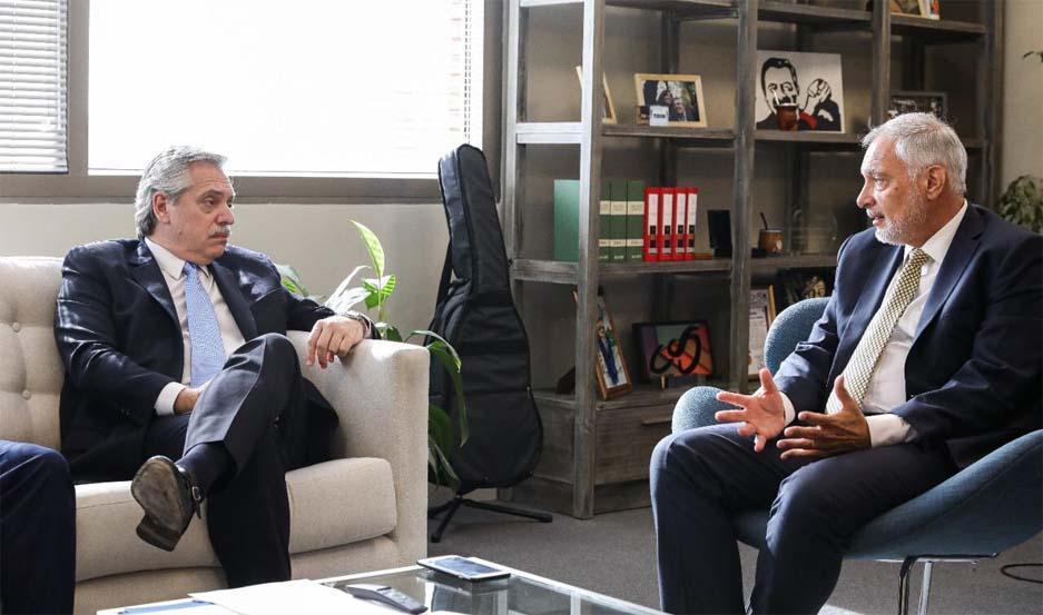 Alberto Fernández se reunió con Juan Notaro