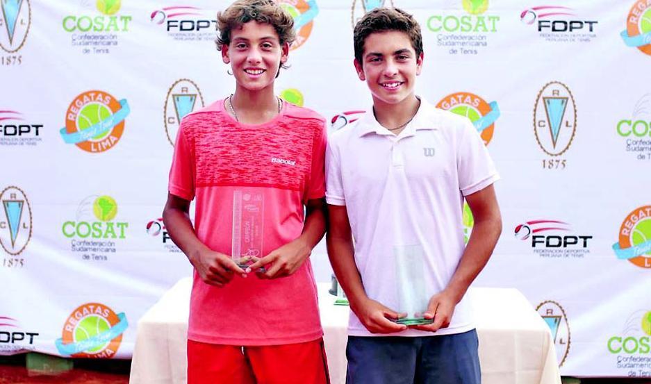 Lucca Guercio, campeón en dobles junto con Máximo Zeitune.