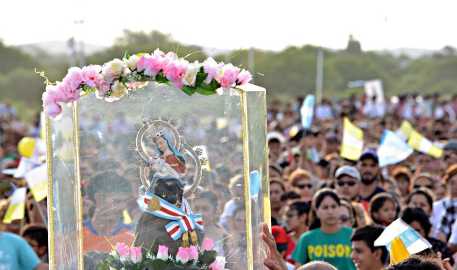 La comunidad de Sumampa acompañó en la peregrinación a la Virgen Nuestra Señora de la Consolación.