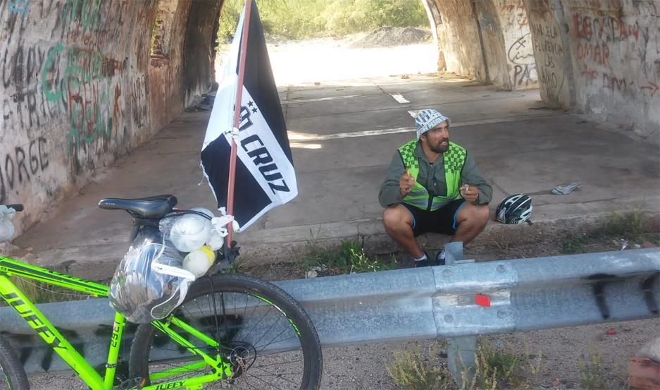 El ciclista hincha del Ferro cumplió su objetivo.