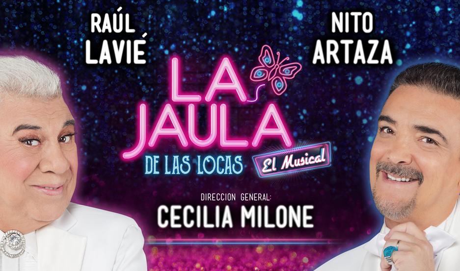 Raúl Lavié y Nito Artaza actuarán en el Teatro 25 de Mayo.