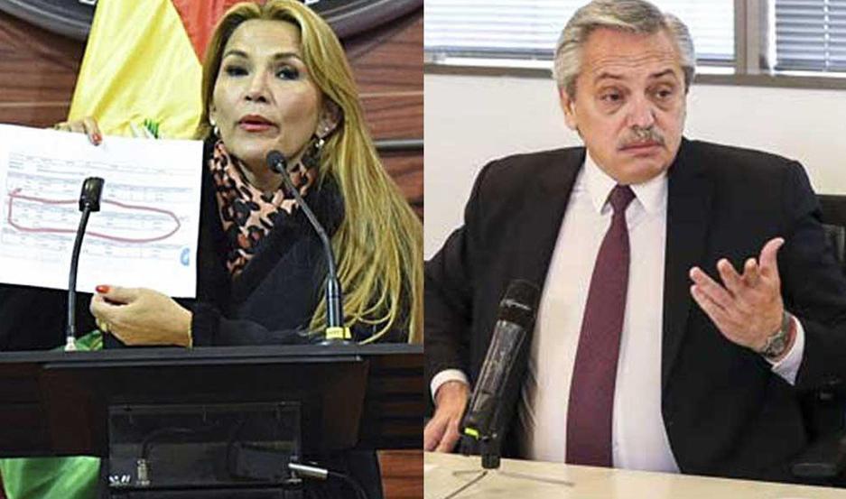 Resultado de imagen para Jeanine Añez y Mauricio Macri